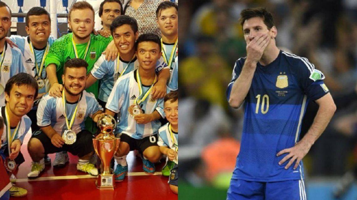 Lo que Messi no pudo: la Selección argentina de talla baja le ganó a Brasil y se trajo la Copa