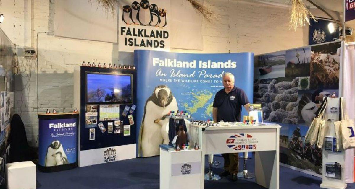 Este es el stand de las Falkland Islands