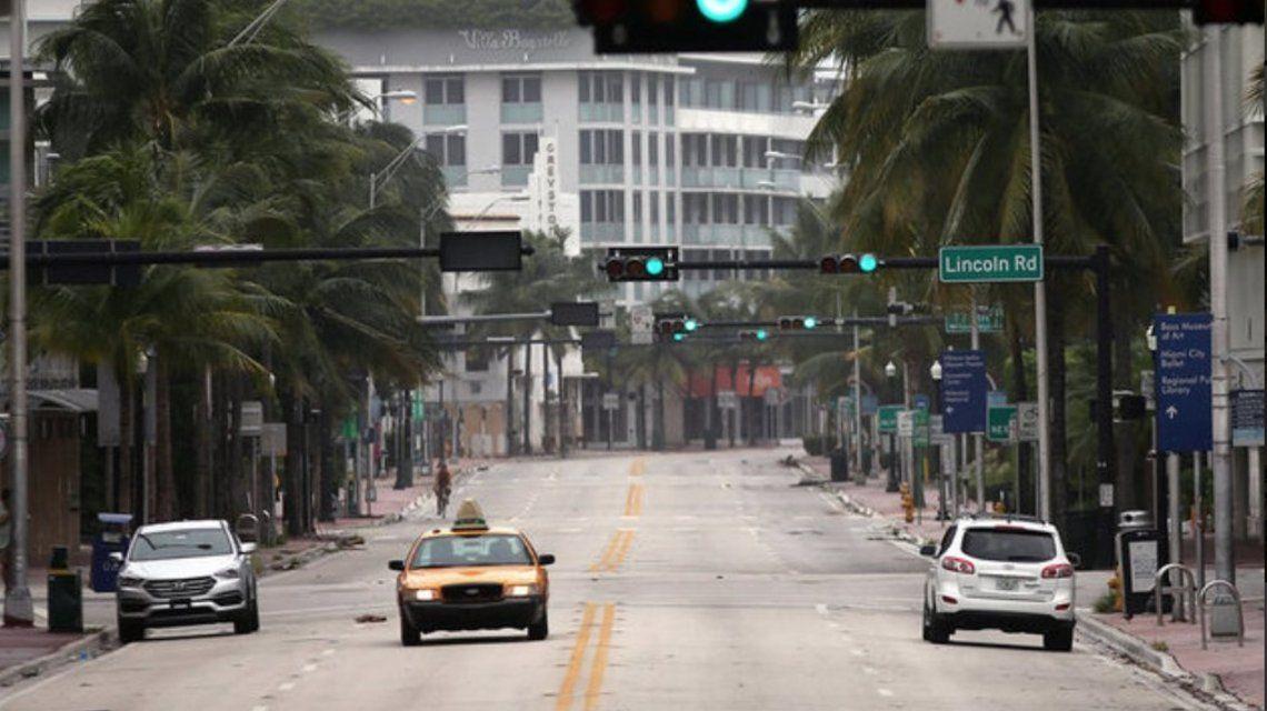 Miami quedó desértica ante la inmenten llegada del huracán Irma