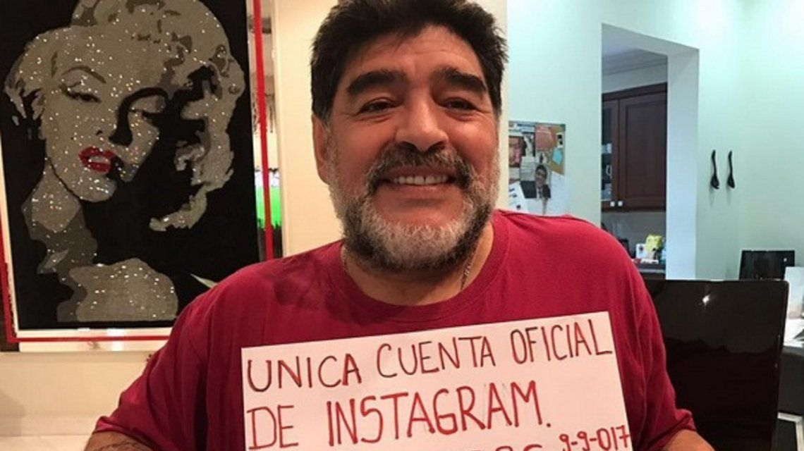 Maradona se abrió una cuenta de Instagram y la hizo explotar