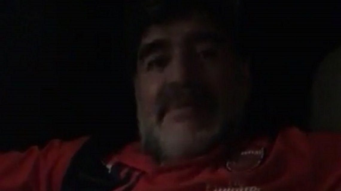 Así fue la primera transmisión en vivo de Maradona en Instagram