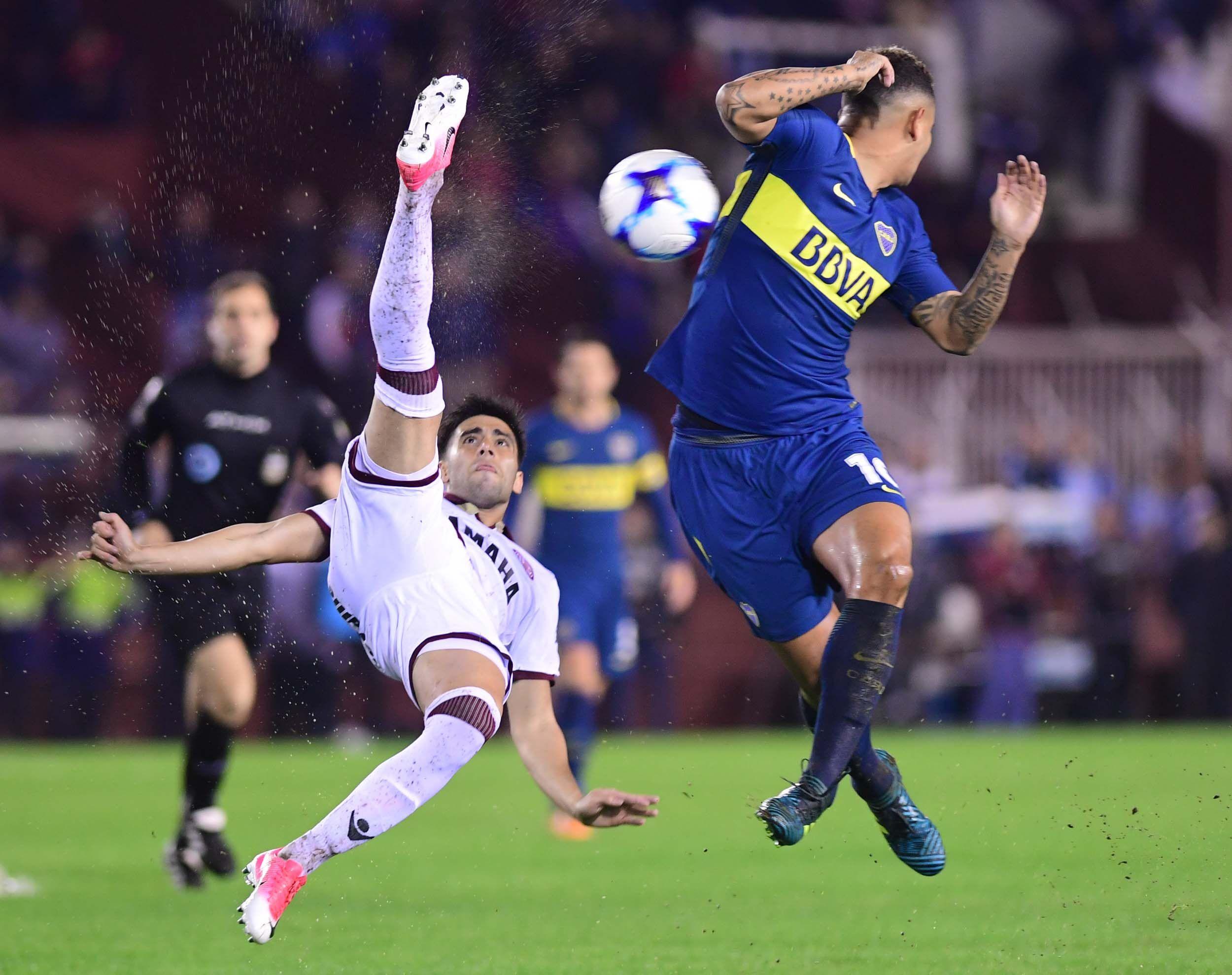 En el final del partido, Boca le ganó a Lanús en el Sur