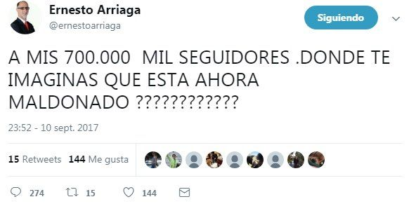 Ernesto Arriaga escribió un twitt que despertó polémica en las redes