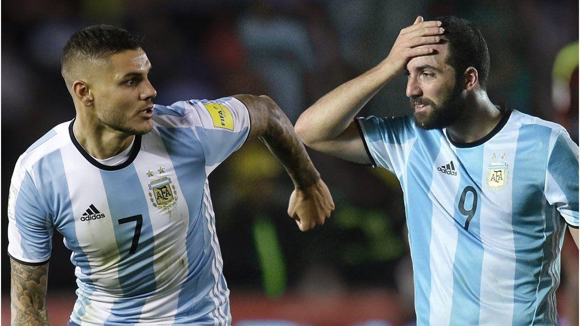 Icardi o Higuaín. ¿Con quién juega mejor Dybala?