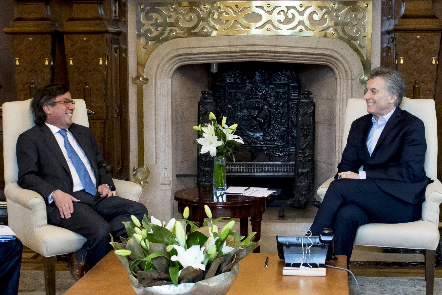 Luis Alberto Moreno y Mauricio Macri