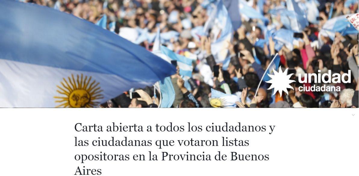 Cristina pidió a todos los opositores que la voten en octubre