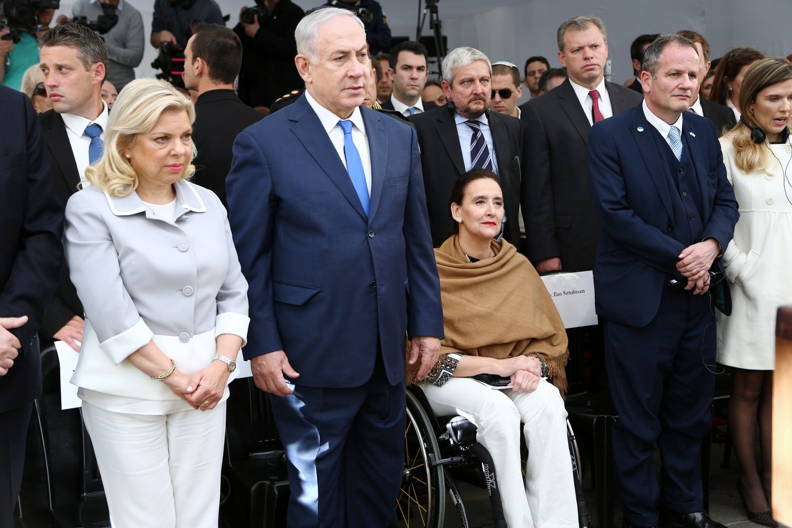 Natanyahu junto a Gabriela Michetti