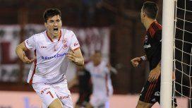 Pussetto celebra el gol de la victoria