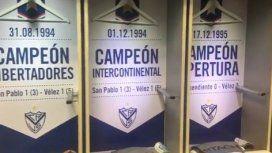 El increíble error en los lockeres de Vélez