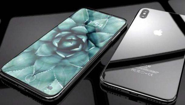 Frente y dorso de lo que sería el nuevo iPhone 8<br>