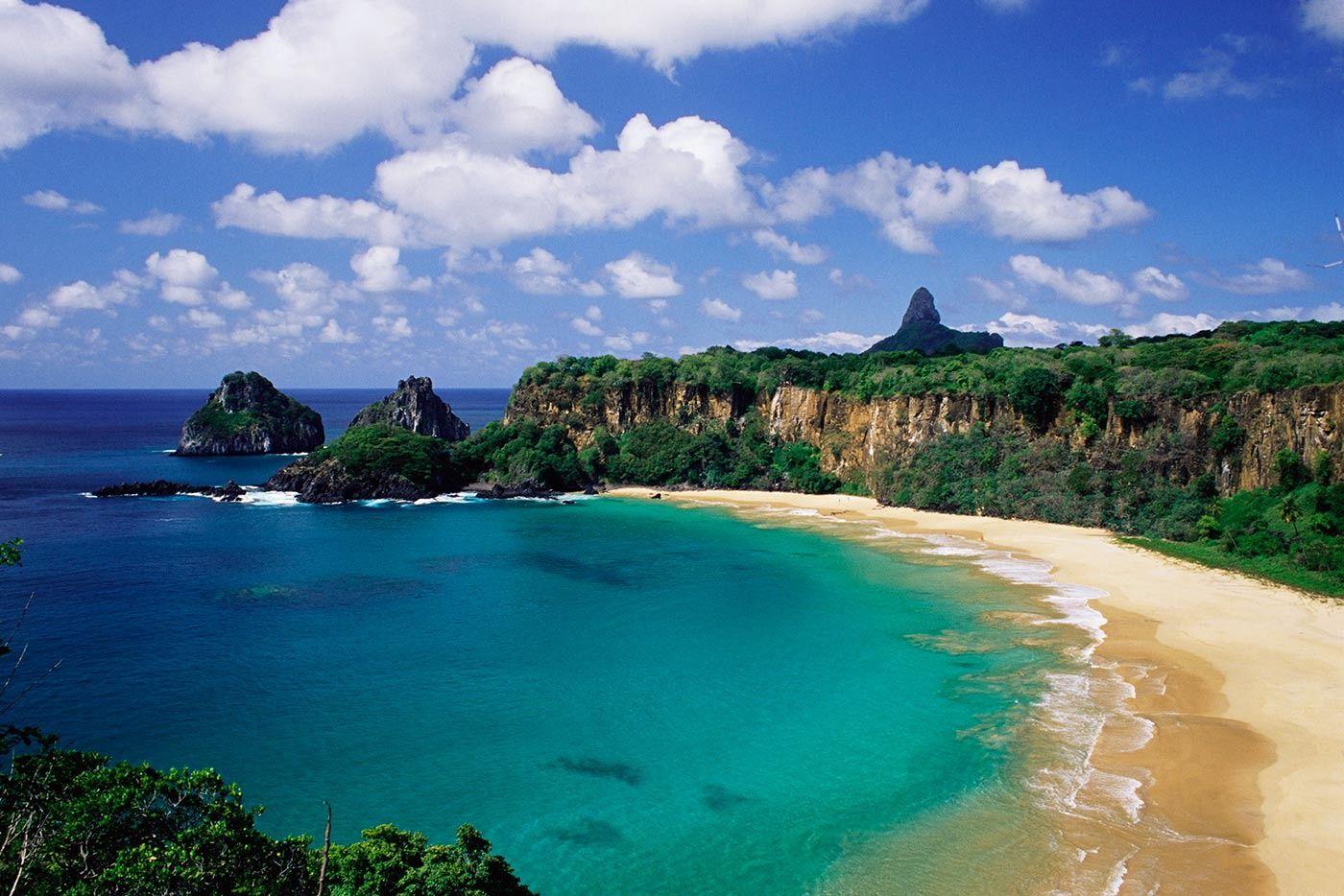 Así son los paisajes que pueden verse en las mejores playas de Brasil