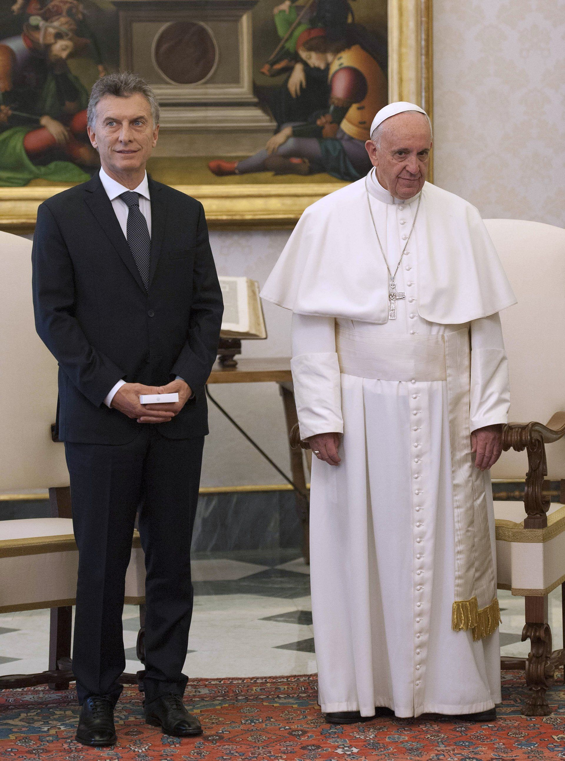 Macri en su +ultima visita a Francisco
