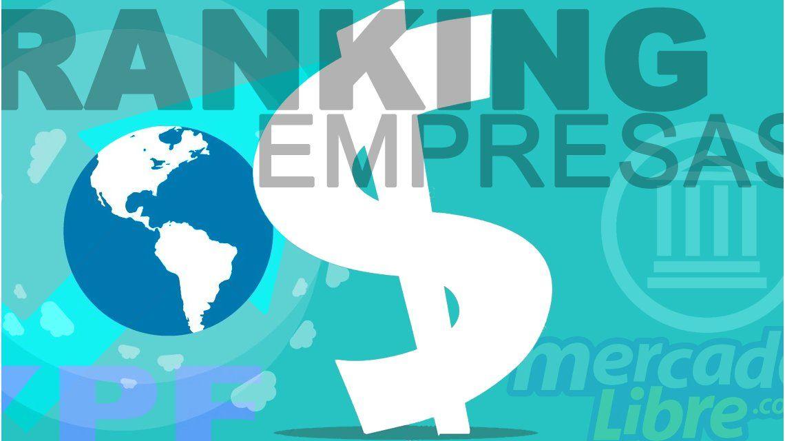 ¿Cuáles son las 10 empresas que más facturan en el país?