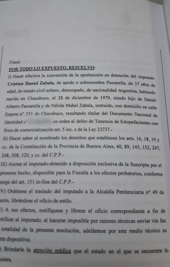 Detienen con drogas al hijo de Daniel Passarella