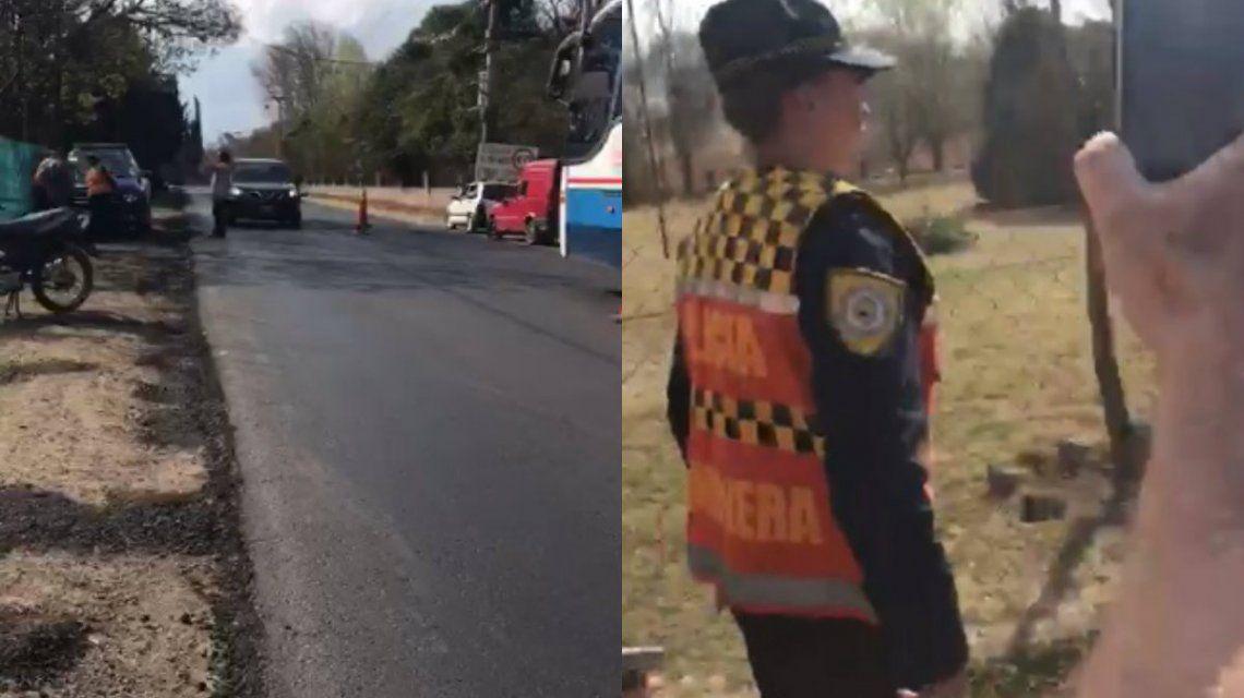 Una intervención insólita de la Policía Caminera se viralizó