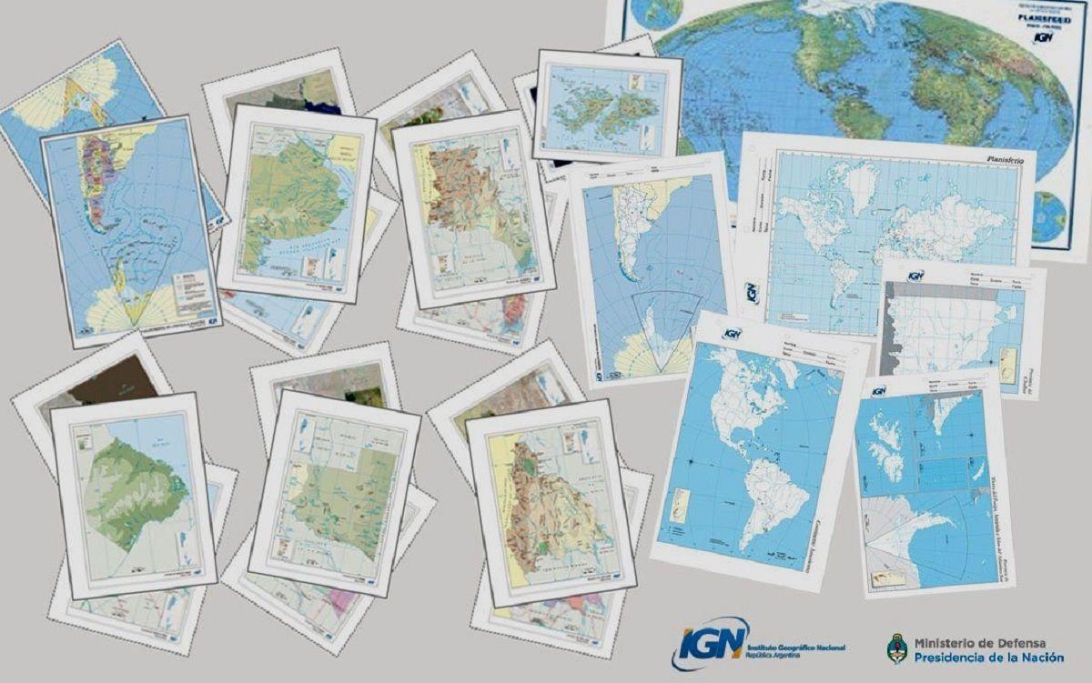 Mapas escolares están disponibles en Internet