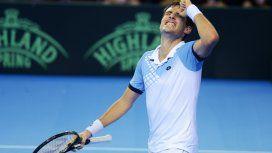 Guido Pella contra Gran Bretaña en la Copa Davis