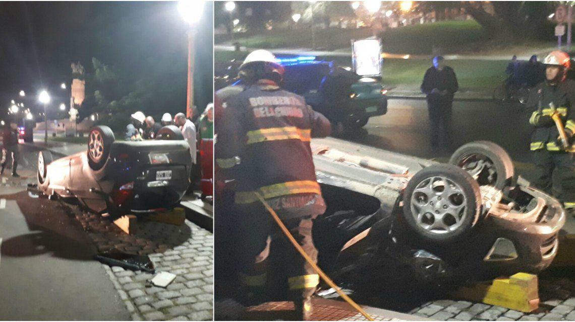 Accidente en Plaza Francia