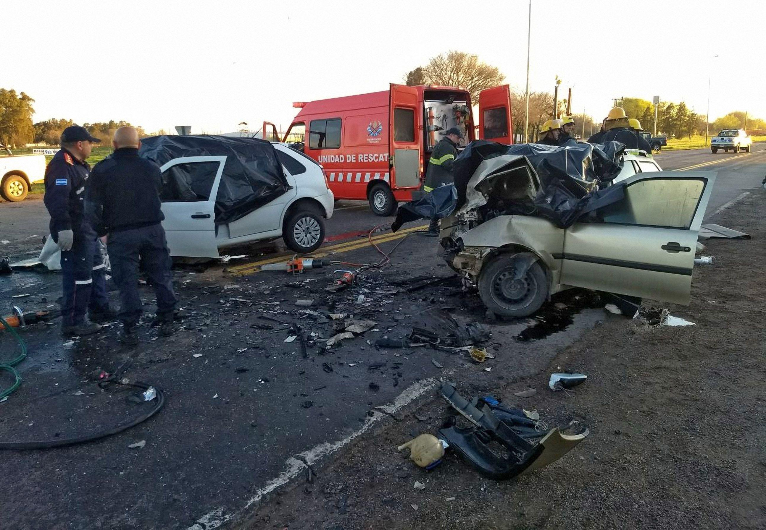 El accidente ocurrió sobre la ruta Nº 5