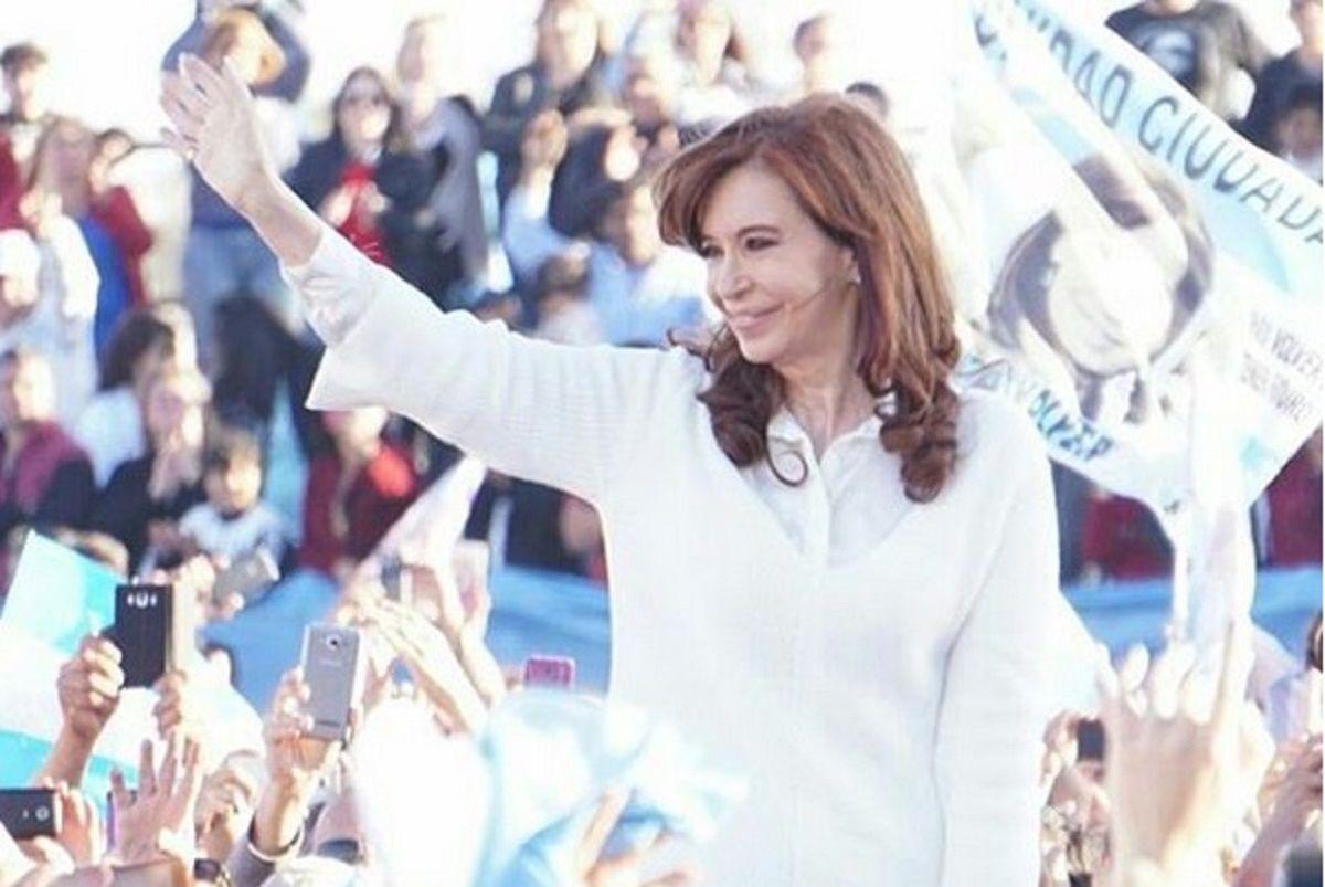 Cristina en Florencio Varela - Crédito: Instagram Cristina Kirchner