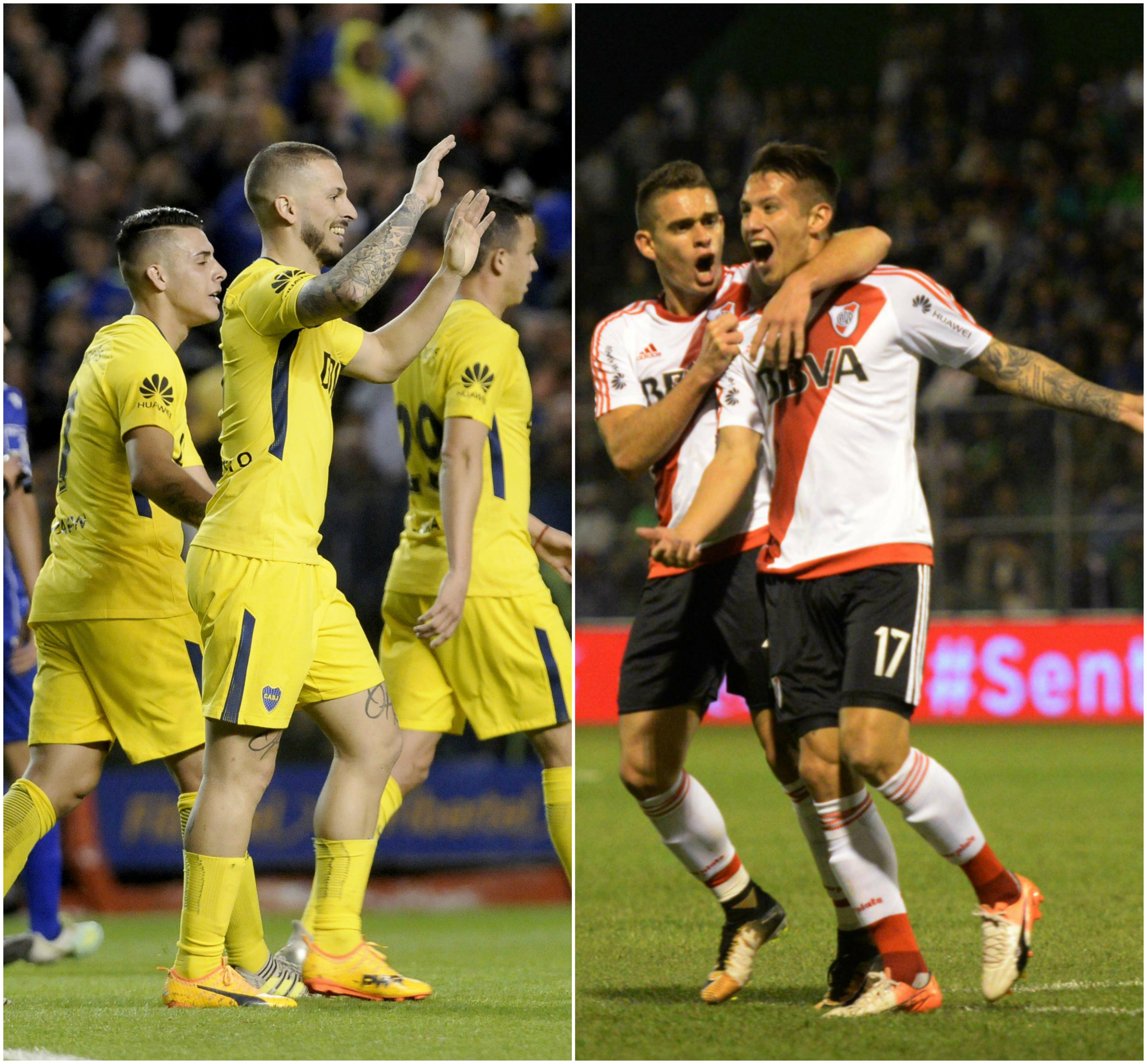 Boca y River lideran la Superliga