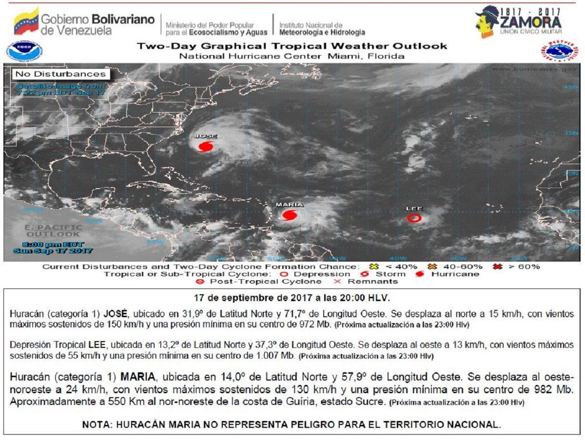 A los habituales inconvenientes de Venezuela se le puede sumar la llegada de un huracán