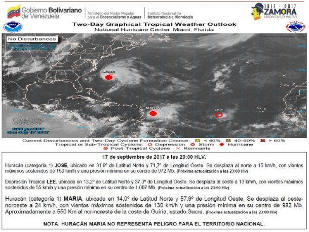 A los habituales inconvenientes de Venezuela se le puede sumar la llegada de un huracán<br>