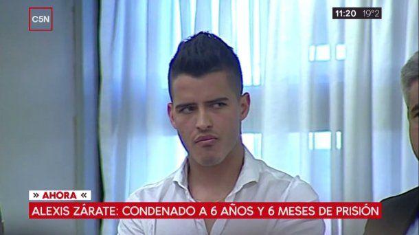 Alexis Zárate, tras ser condenado por abuso<br>