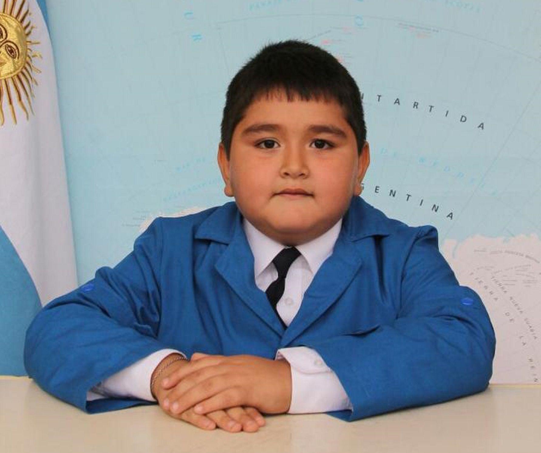 El pequeñoMatías Juárezmurió a los 8 años por un infarto cerebral.