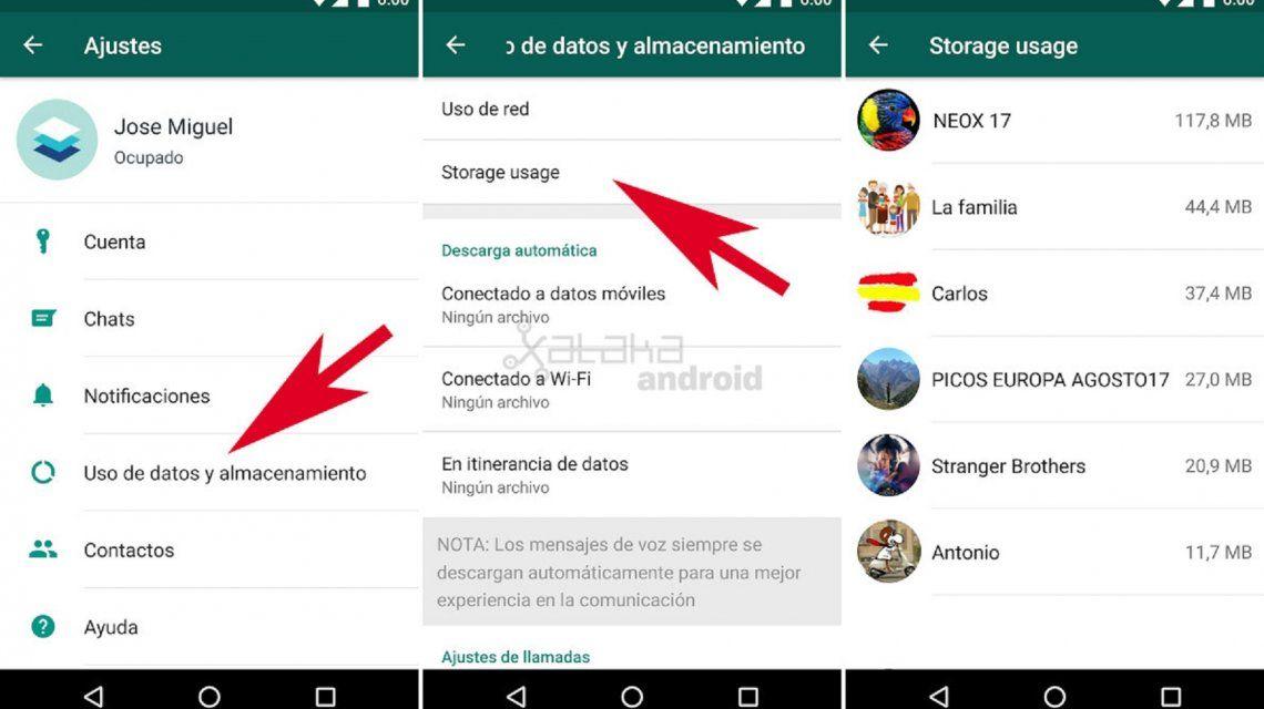 WhatsApp: nuevo truco para liberar espacio en el celular de forma sencilla