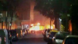 Se incendió un colectivo en Caballito