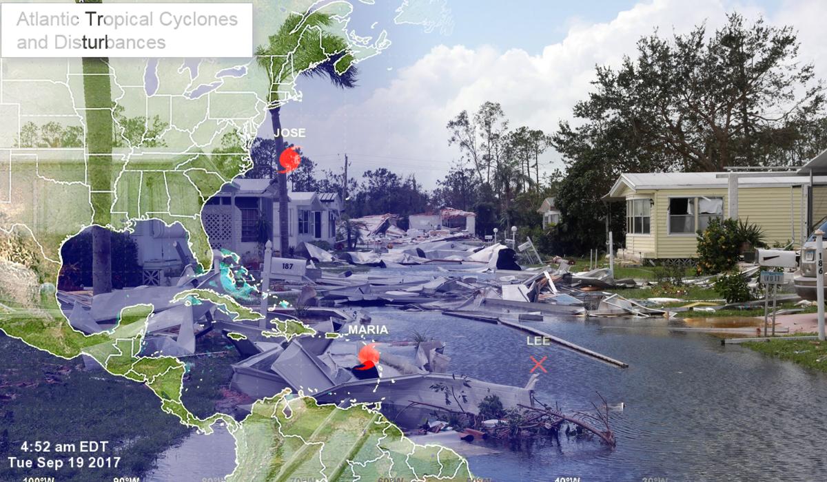 El huracán María está en su pico máximo y apunta a Puerto Rico