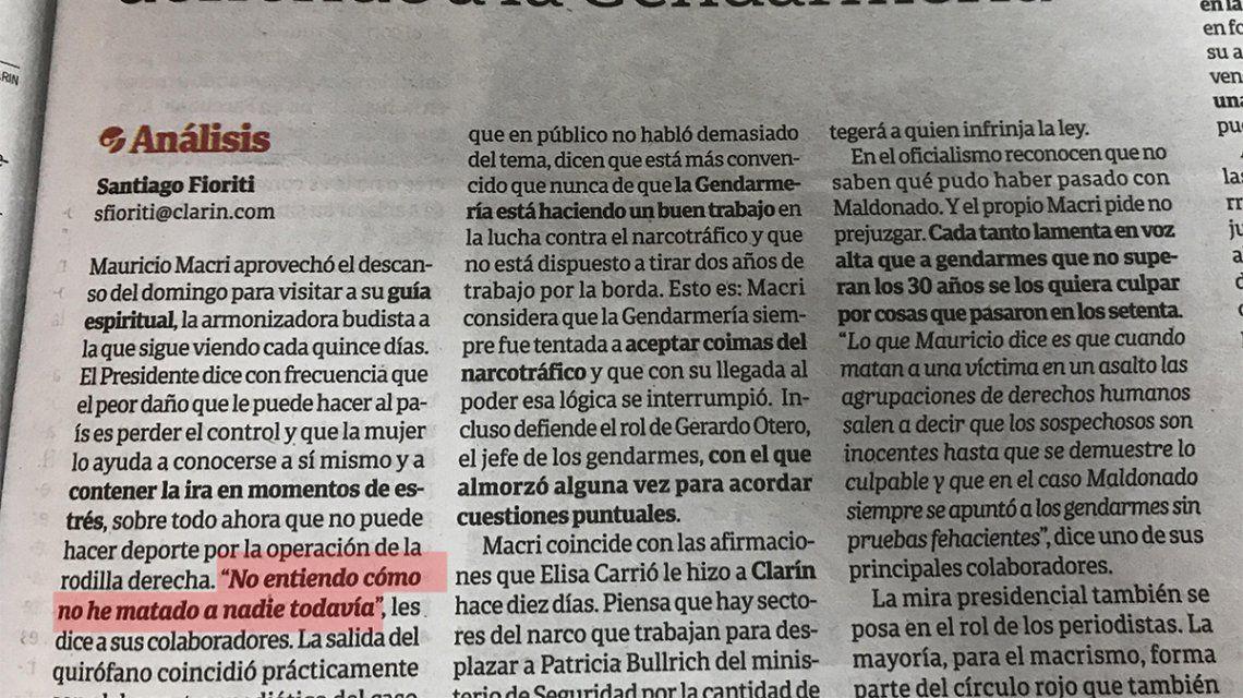 Macri: No entiendo cómo no he matado a nadie todavía