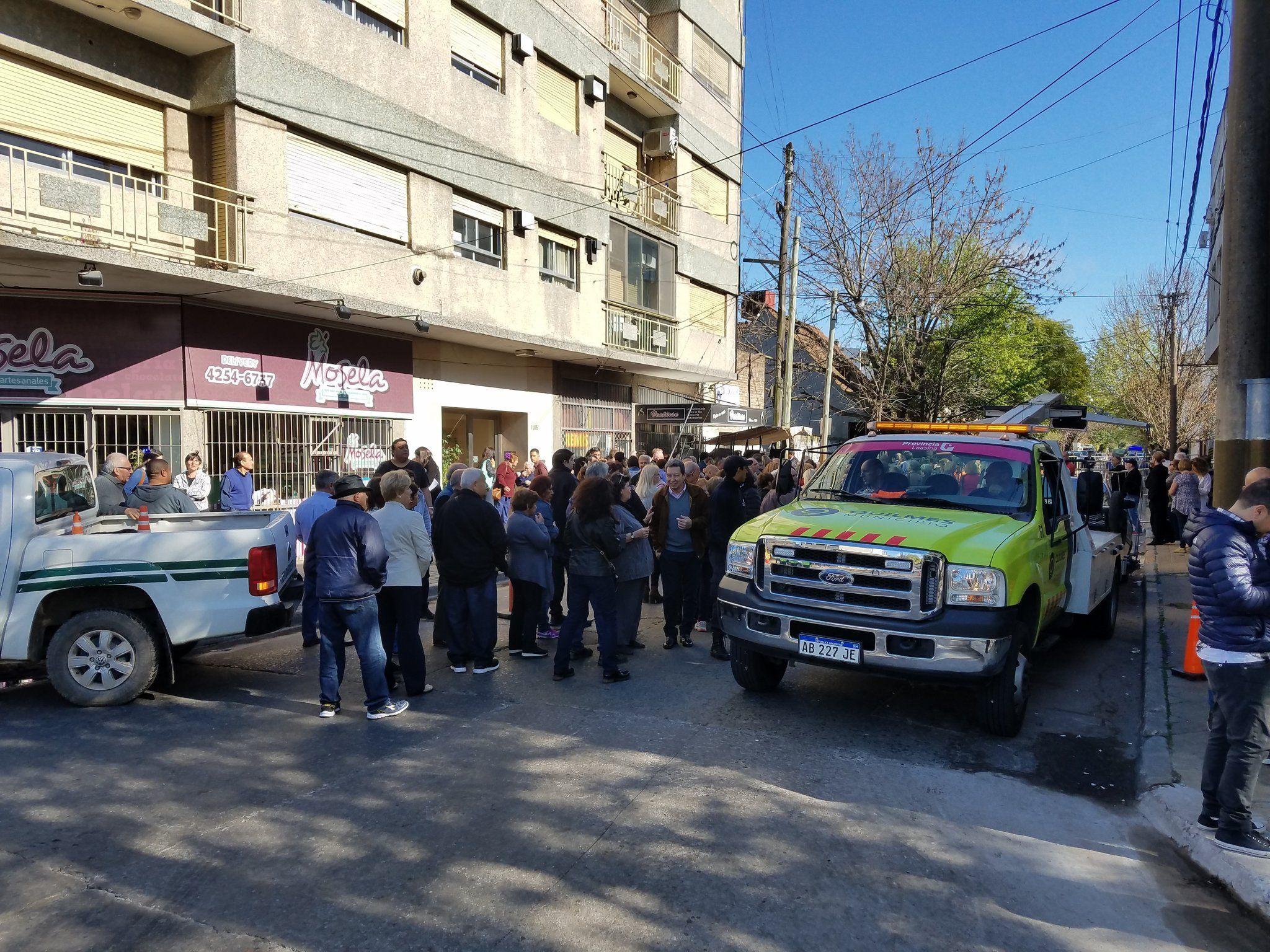 El operativo en el acto de Macri