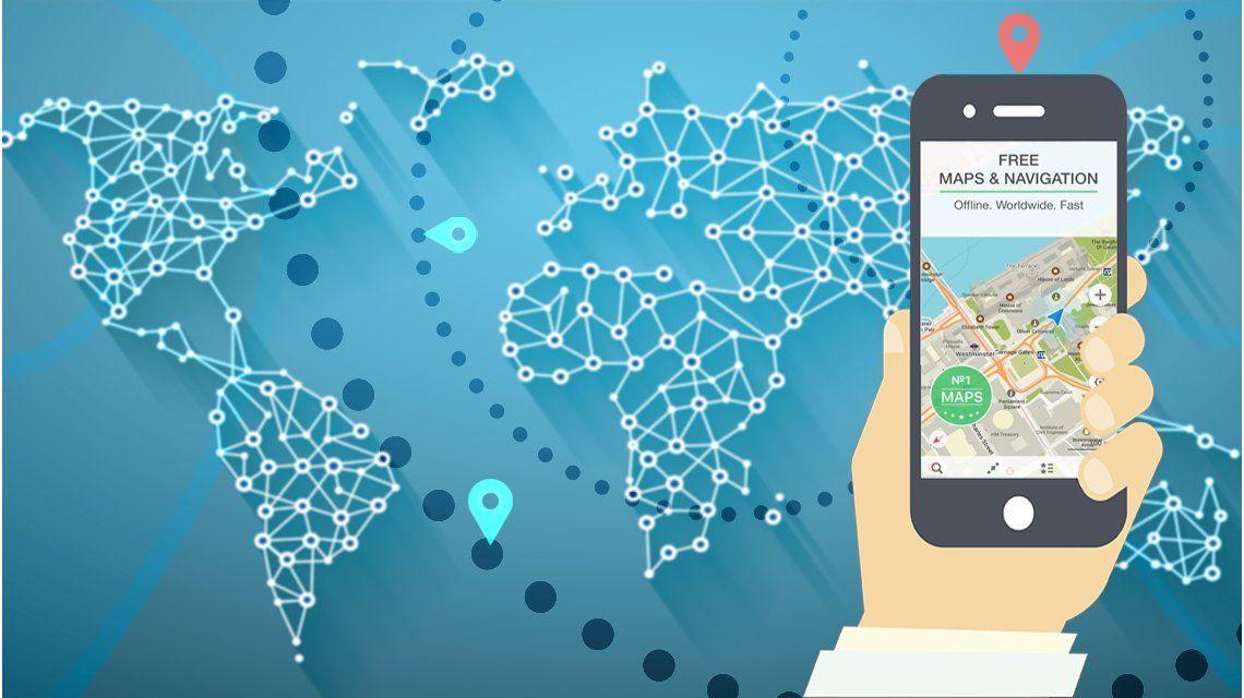 Una aplicación que te permite bajar mapas para usarlo cuando estés de viaje