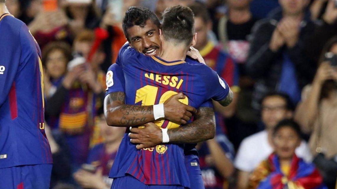 Con Sampaoli en la platea, Messi volvió a brillar y marcó cuatro goles