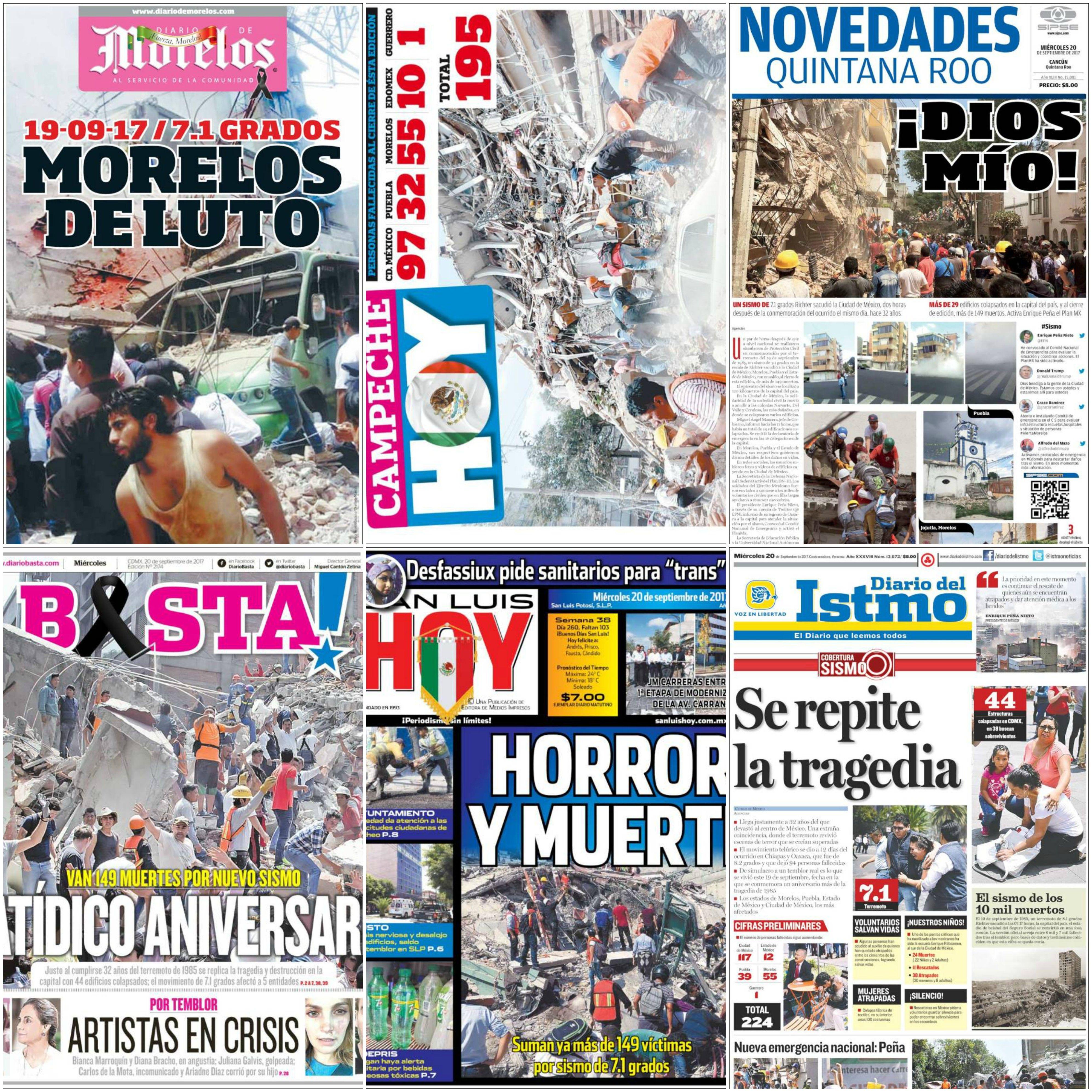 Algunas de las principales portadas de México