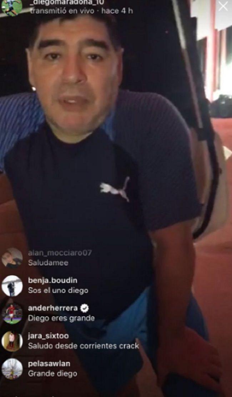 El español Ander Herrera se rindió a los pies de Maradona en Instagram