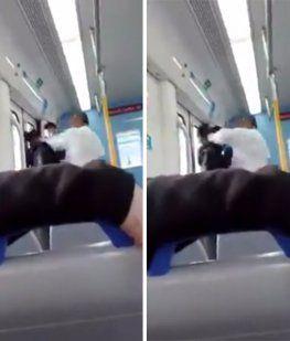 Brutal pelea en el tren Roca: Yo me drogo y ando con fierro