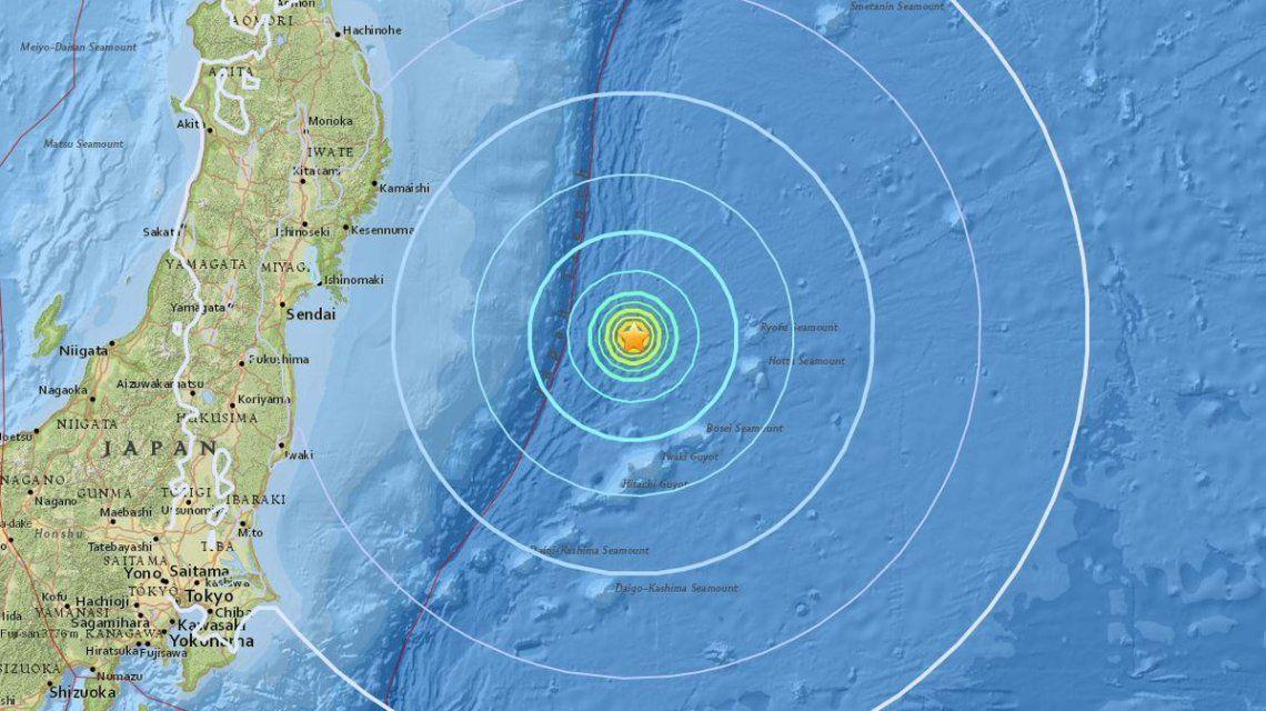 El epicentro del terremoto fue a 281 km. de la costa este de Japón