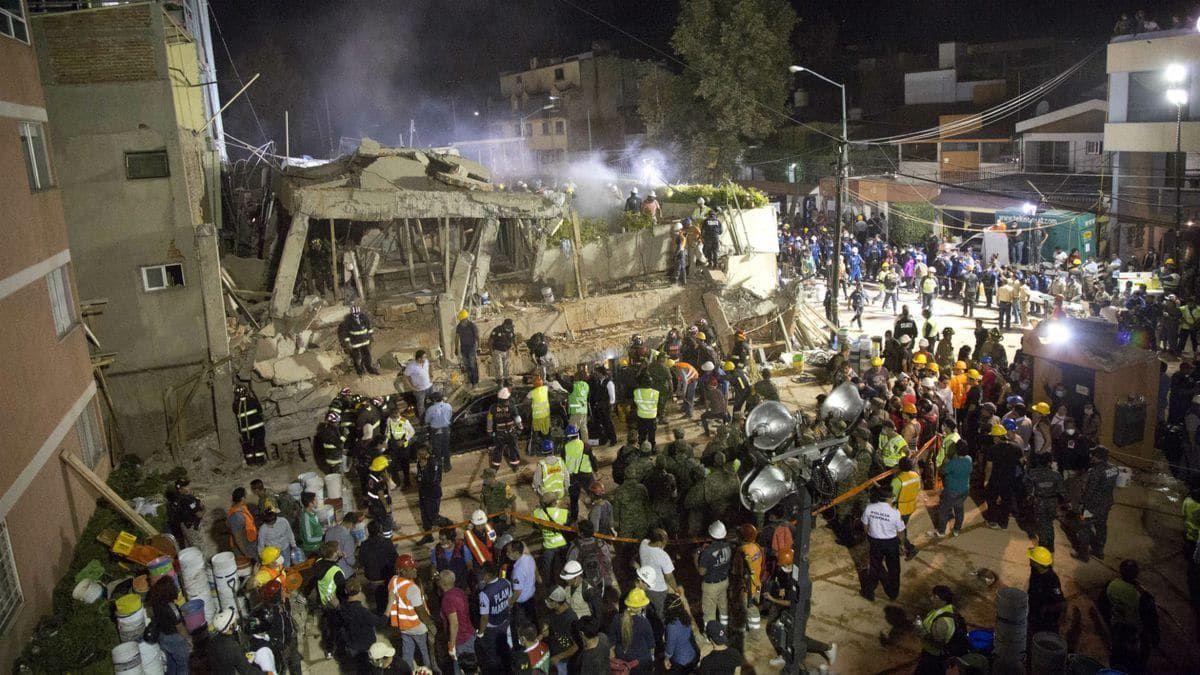 Los escombros de la Escuela Enrique Rebsamen