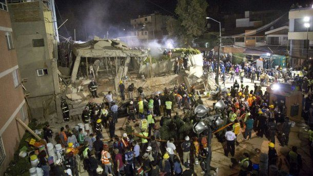 Los escombros de la Escuela Enrique Rebsamen<br>