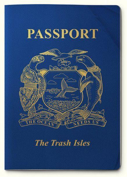 """""""Pasaporte"""" de las Islas Basura"""