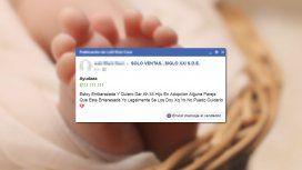 Santiago del Estero: una mujer puso un aviso para dar en adopción a su hijo en Facebook
