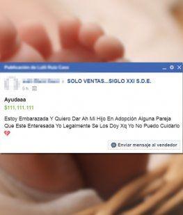 Polémica por un aviso en Facebook: Doy a mi hijo en adopción