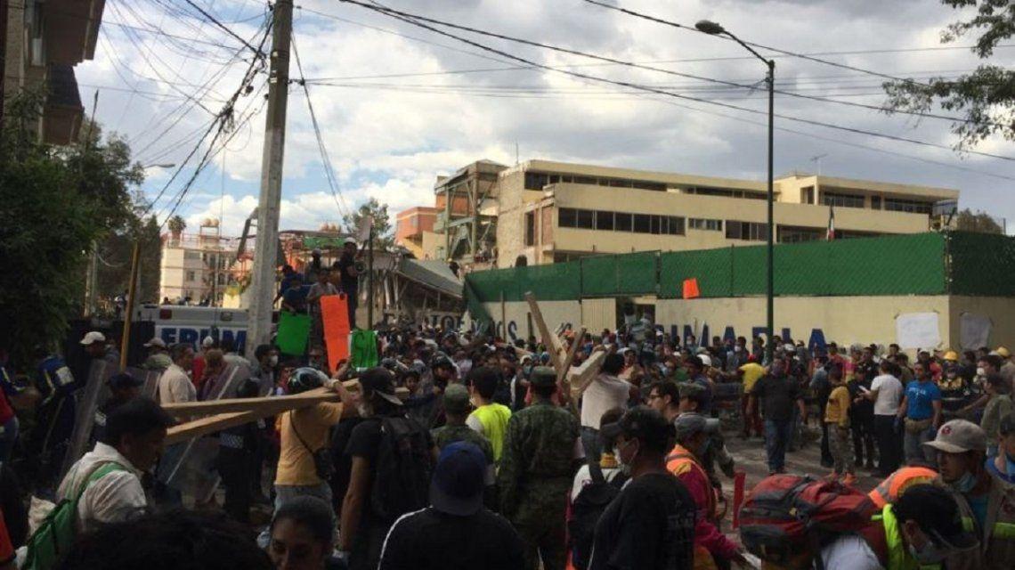 Alerta: un nuevo sismo golpeó a México y se pararon las tareas de rescate