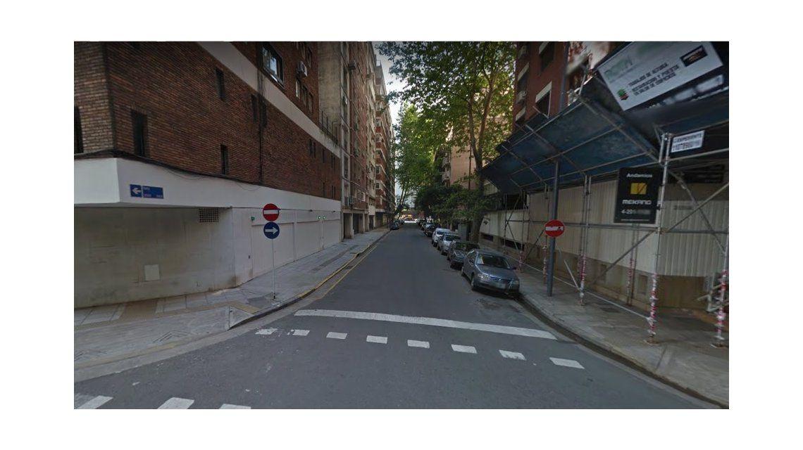 Esta es la calle por donde la joven de 21 años se metió en contramano