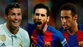 Ronaldo, Messi y Neymar, los mejores