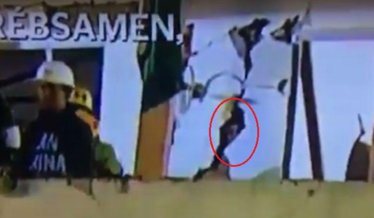 Esa es la silueta que se vio desde la televisión
