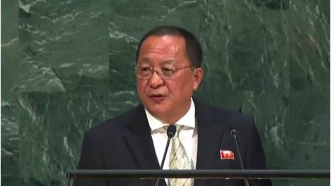 Ri Yong Ho dijo que Trump provoca la indignidad de Corea del Norte